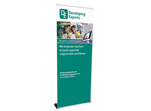 Original R Premium Roller Banner Image Display and Graphics Norwich