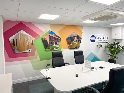 Boardroom Office Interior Graphics for Pentaco Construction