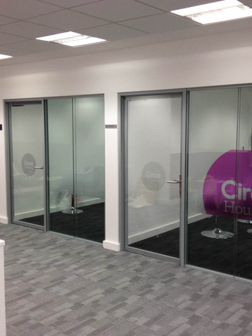Branded Window Graphics and Interior Design for Circle Housing