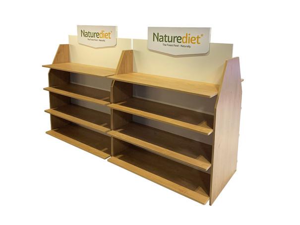 Custom Built Retail Shelving Unit for Naturediet Pet Foods