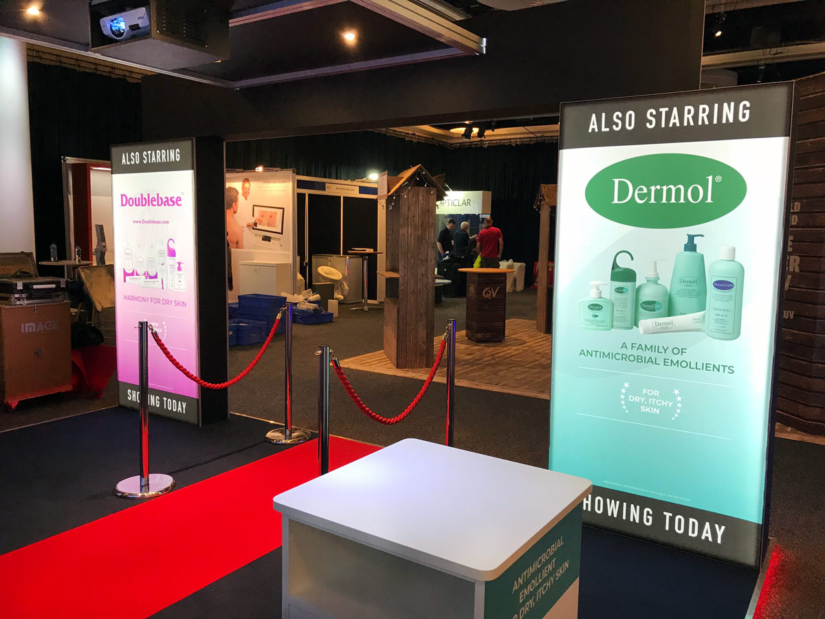 Exhibition Stand Lightbox Graphics Dermal BAD 2018