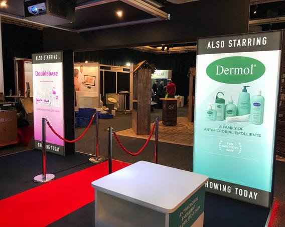 Exhibition Stand Lightbox Graphics Dermal BAD 2018