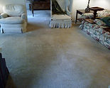 After carpet was cleaned