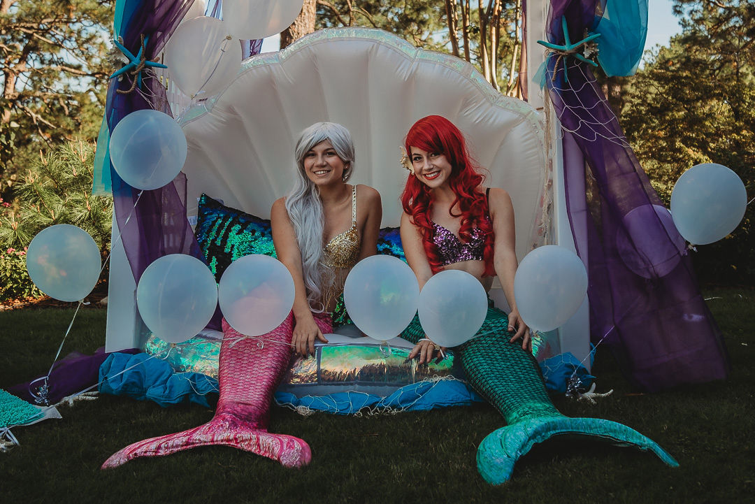 Pink & Green Mermaids