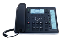 The 440HD IP phone is an advanced mid-range business phone. It includes an integrated, dedicated LCD sidecar displaying contacts and their presence.