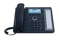 The 430HD IP phone is a mid-range enterprise phone. It includes 12 programmable speed dial keys with integrated presence monitoring.
