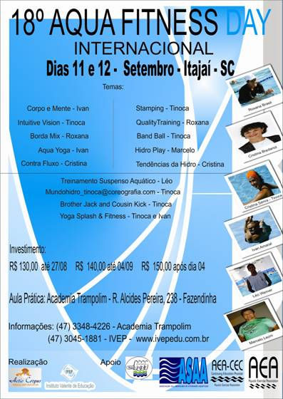 18º Aqua Fitness Day Internacional Itajaí SC Set 2010