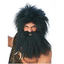 Pre-historic Wig & Beard . Black 50822.j