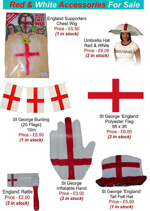 Accessories - Red & White Accessories fo