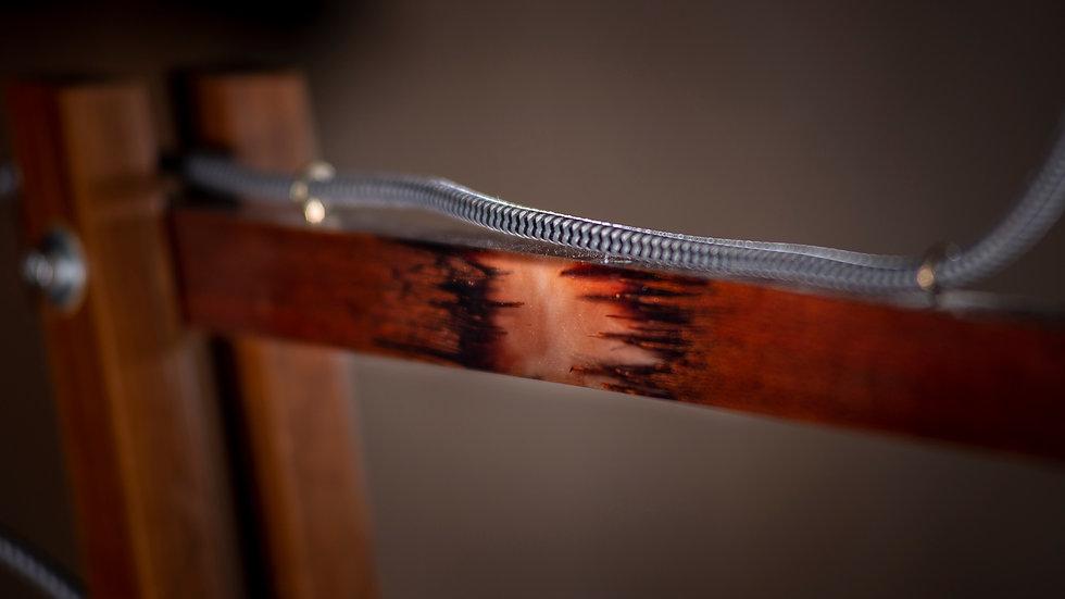 Detalhe do acabamento na madeira
