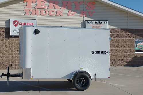 SOLD! 2021 Criterion Enclosed Trailer 5' x 10' Double Doors