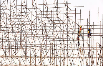 scaffolding contruction