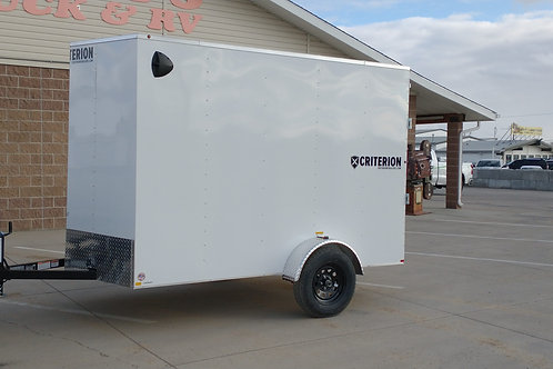 2021 Criterion Trailer 6x10 SA Enclosed Trailer Ramp Door