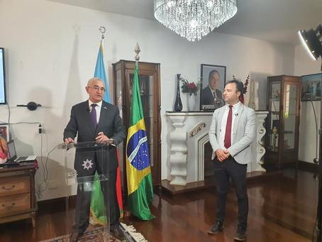Embaixador do Azerbaijão no Brasil reúne jornalistas e explica sobre o conflito