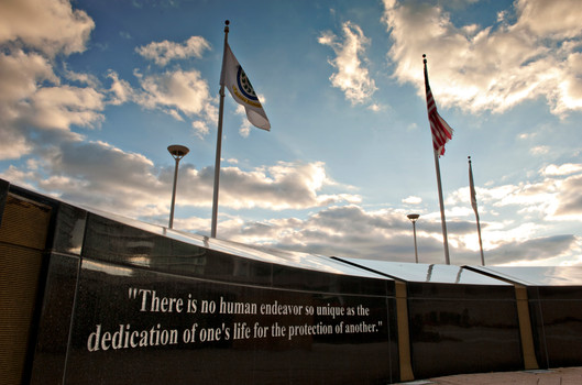 The Memorial Wall at the Aurora Police Department, 1200 E Indian Trail, Aurora, Illinois