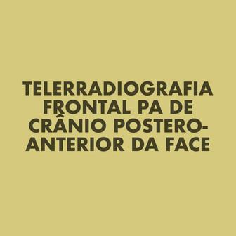Telerradiografia Frontal Pa de Crâneo Postero-Anterior da Face