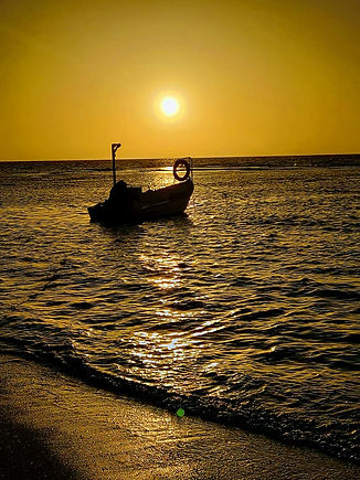 A boat in sunset