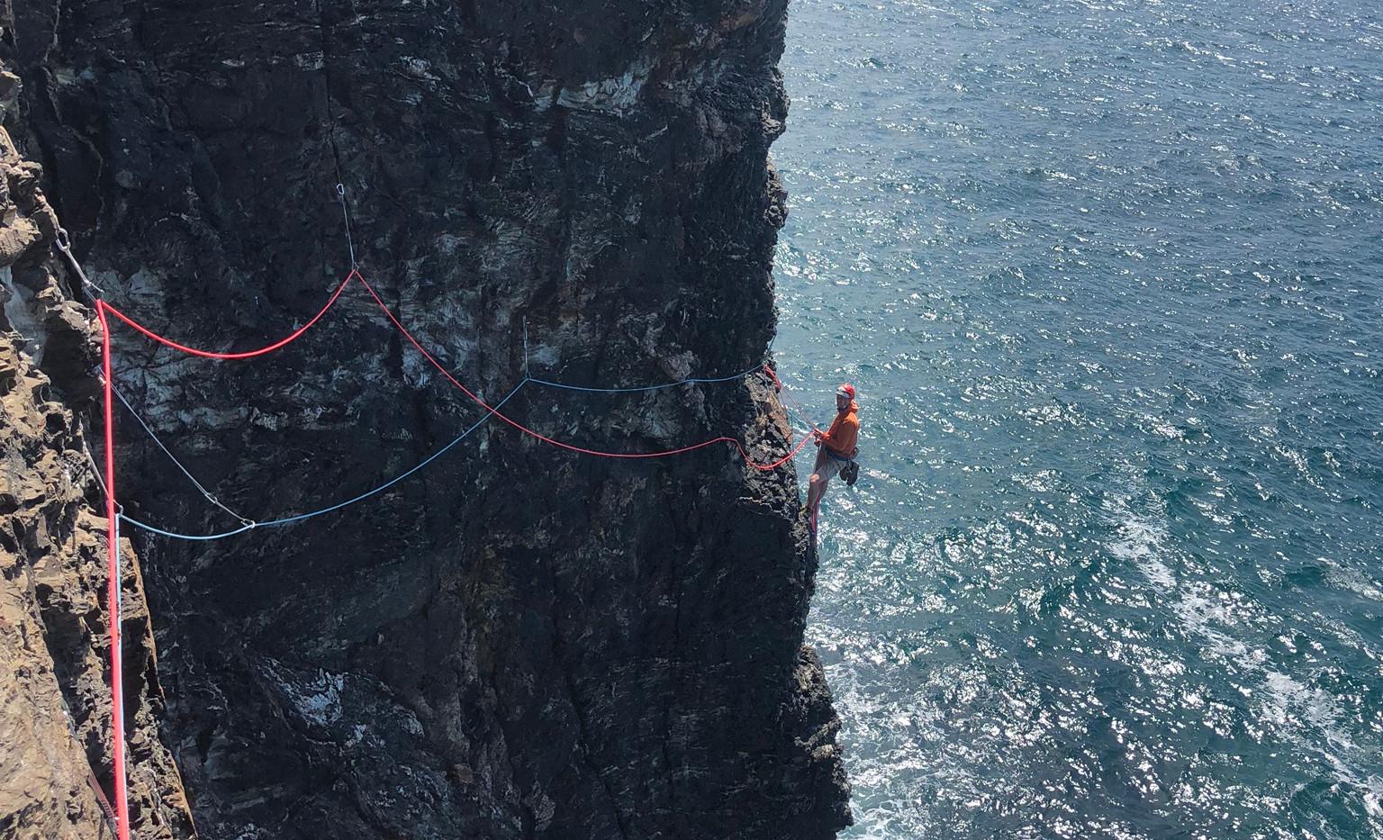 Sea Cliff Belay