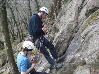 Abseiling Together