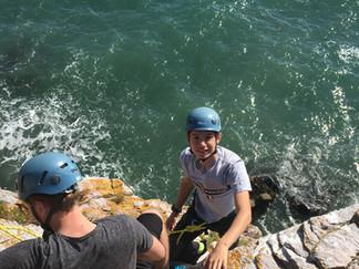 Skills for trad climbing on sea cliffs