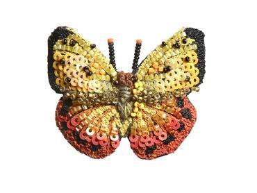 """Brosche Schmetterling """"Orange Barred Sulphur"""""""