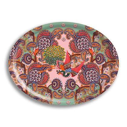 Paisley floral Holztablett