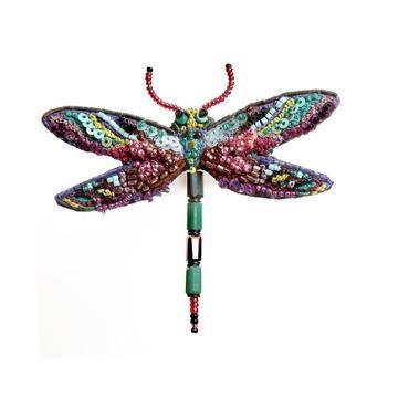 Brosche Amethyst Dragonfly