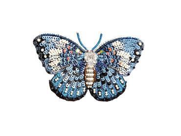 """Brosche Schmetterling """"Blue Cracker"""""""