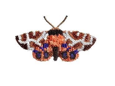 """Brosche Schmetterling """"Garden Tiger Moth"""""""