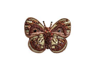 "Brosche Schmetterling ""Leprieur's Green Glory"""