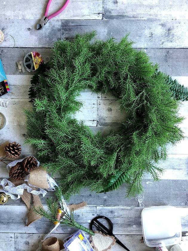 Rustic Christmas Wreath Diy.Diy Rustic Christmas Wreath Christmas Tree Ornaments