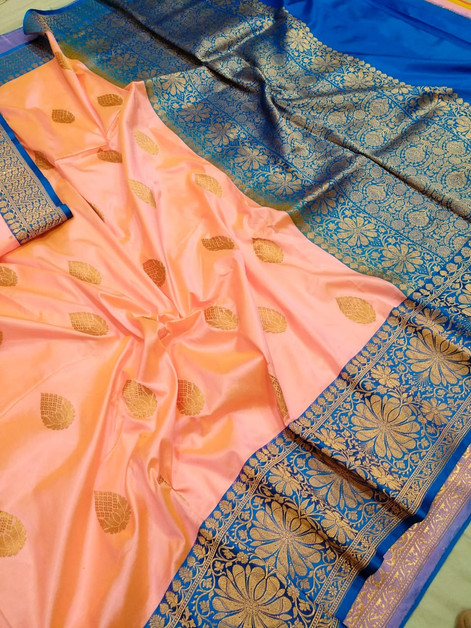Pure Banarasi Handloom Katan Silk Saree