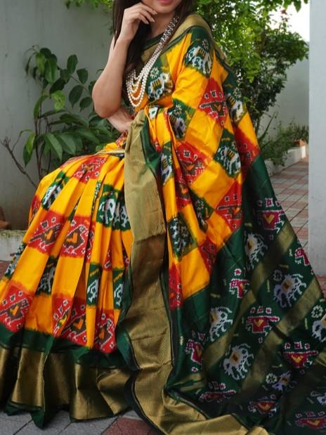 Pochampally Patola Silk Saree