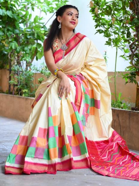 Handwoven Ikkat Silk Saree