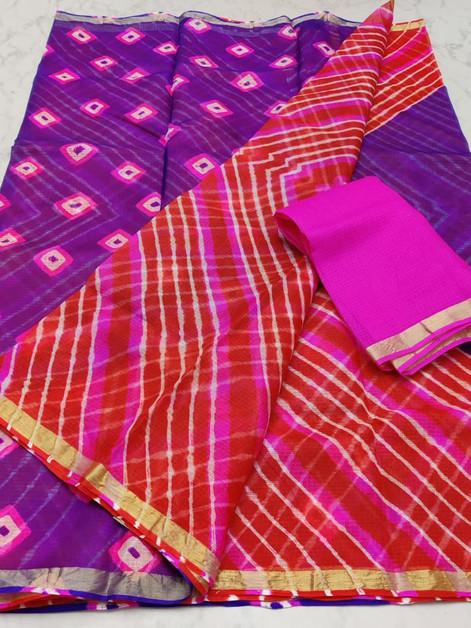 Kota Leheriya Silk Saree