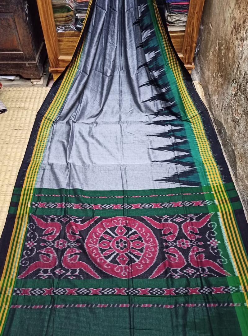 Odisha Handloom Full Body Double Ikat Kargil Cotton Saree