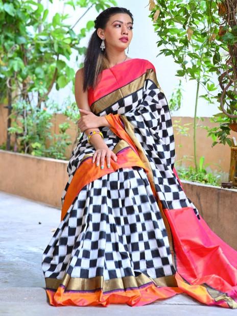 Pochampally Ikkat Silk Saree