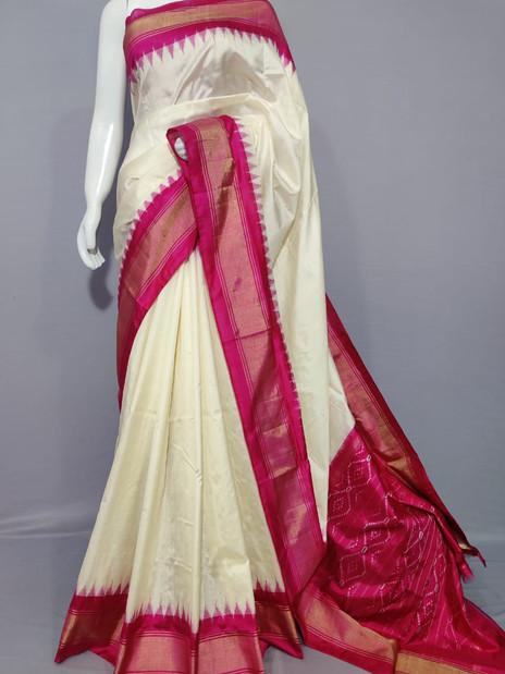 Handwoven Ikkat Silk Pattu Saree