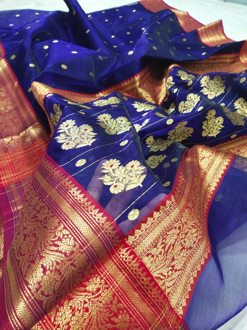 Pure Chanderi Silk Handloom