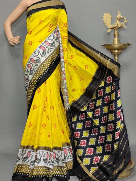 Handloom Ikkat Silk Saree