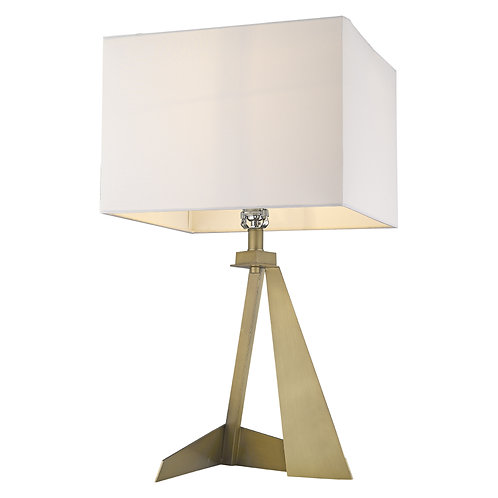 Stratos 1-Light Aged Brass Table Lamp