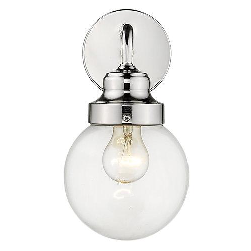 Portsmith 1-Light Polished Nickel Sconce
