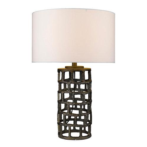 Vallin 1-Light Black Gold Table Lamp