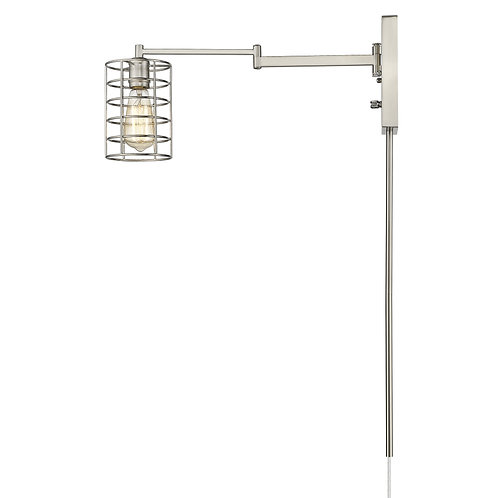 Jett 1-Light Satin Nickel Sconce