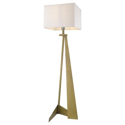 Stratos 1-Light Aged Brass Floor Lamp
