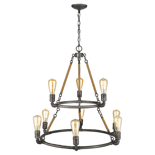Grayson 9-Light Antique Gray Chandelier