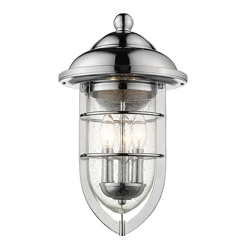 Dylan 3-Light Chrome Wall Light