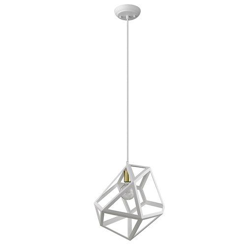 Hedron 1-Light White Pendant