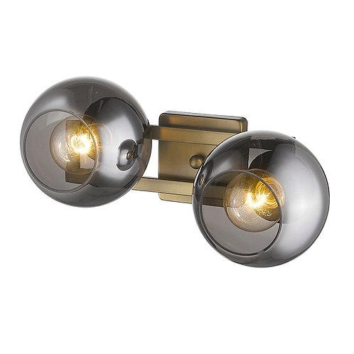Lunette 2-Light Aged Brass Sconce