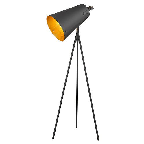 Faza 1-Light Matte Black Floor Lamp